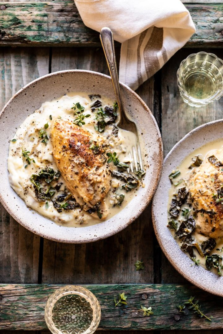 Slow cooker french wine and mustardchicken